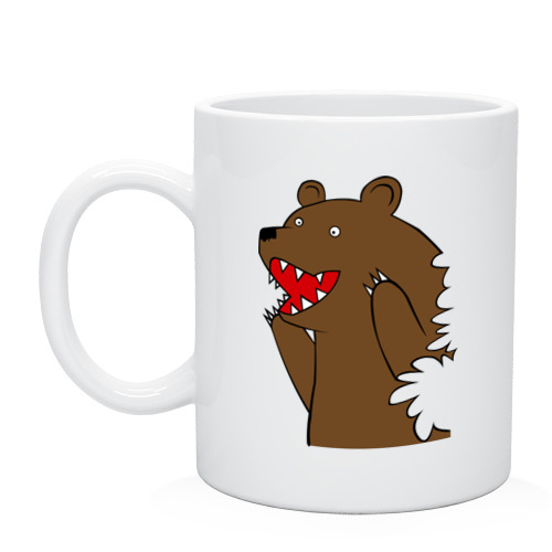 Кружка Медведь цензурный