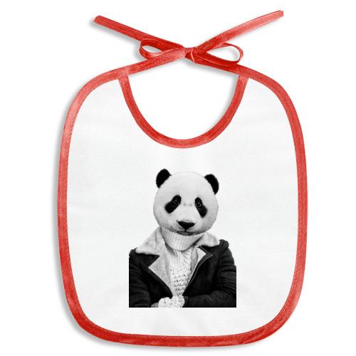 Слюнявчик  Фото 01, Панда в свитере