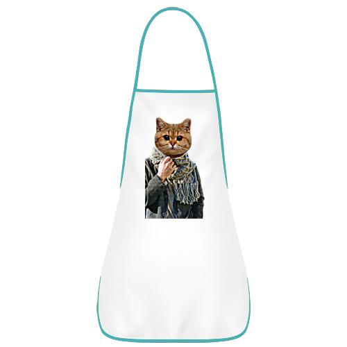 Котейка в шарфе