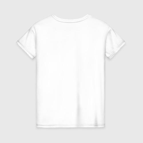 Женская футболка хлопок Котейка в шарфе Фото 01