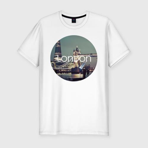 Мужская футболка премиум London - круг