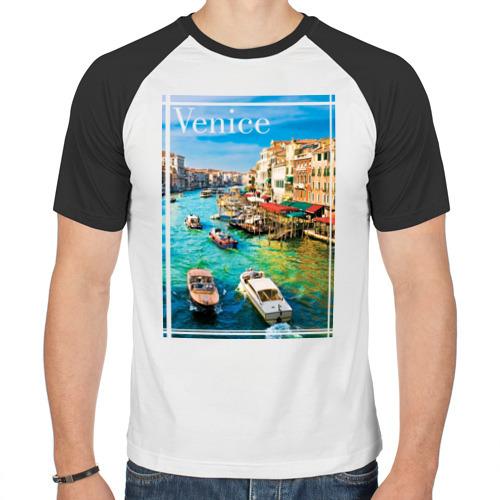 Мужская футболка реглан  Фото 01, Венеция