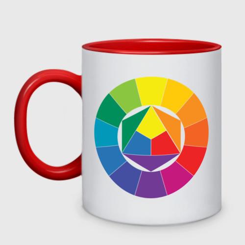 Кружка двухцветная Цветовой круг