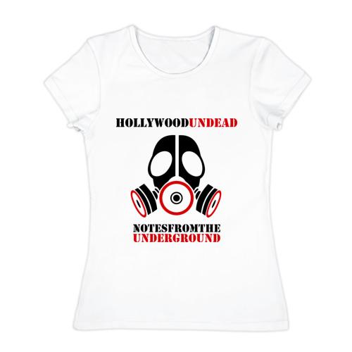 Женская футболка хлопок  Фото 01, Hollywood undead, notes from the underground