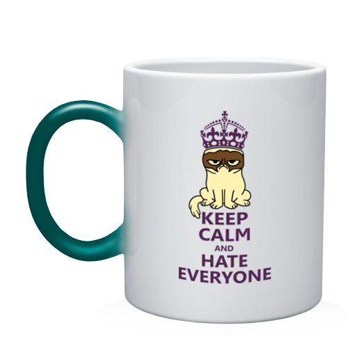 Кружка хамелеон  Фото 01, Keep calm and hate everyone