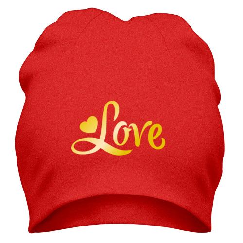 Шапка Love gold