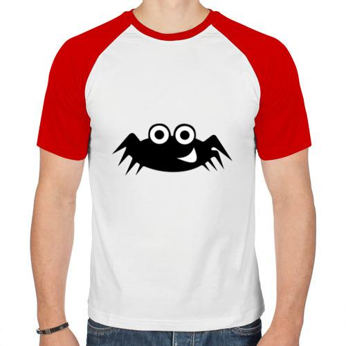 Мужская футболка реглан  Фото 01, Весёлый паучок