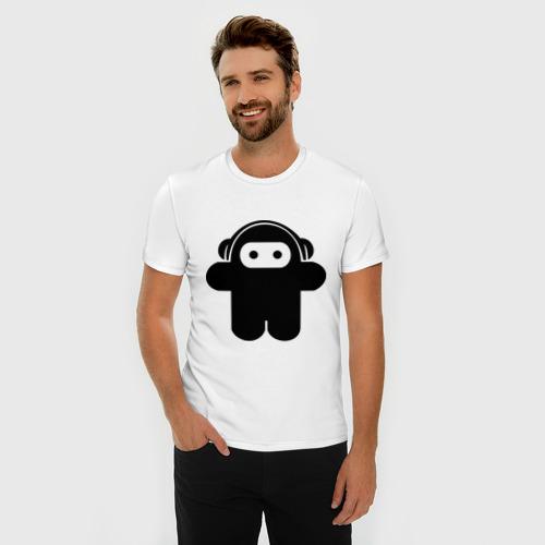 Мужская футболка премиум  Фото 03, Музыкальный человечек.