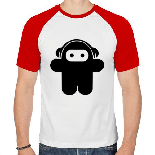 Мужская футболка реглан  Фото 01, Музыкальный человечек.