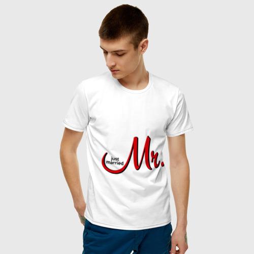 Мужская футболка хлопок Mr. Just married Фото 01