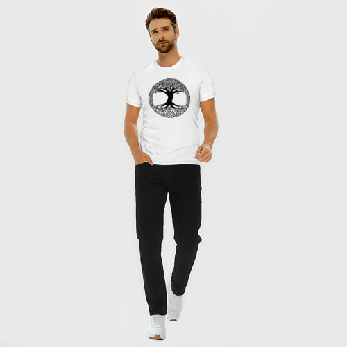 Мужская футболка хлопок Slim Дерево Жизни Фото 01