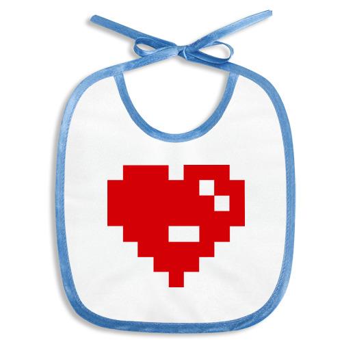 Слюнявчик Heart