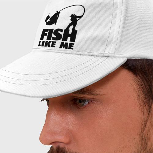 Бейсболка Fish like me.