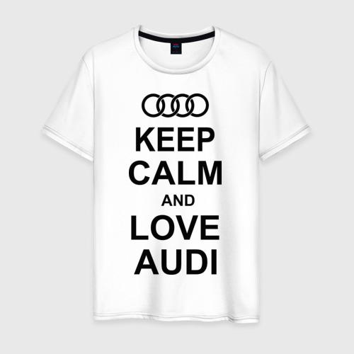 Мужская футболка хлопок Keep calm and love audi