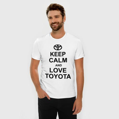Мужская футболка премиум  Фото 03, keep calm and love toyota