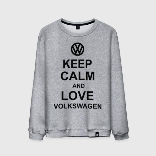 Мужской свитшот хлопок  Фото 01, keep calm and love volkswagen.
