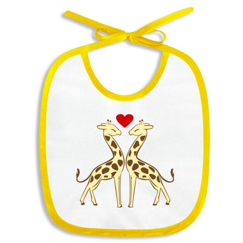 Слюнявчик Влюбленные жирафы