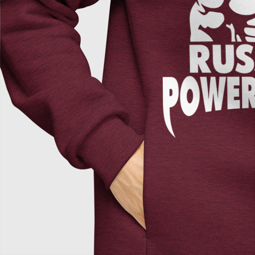 Мужское худи Oversize хлопок Russian powerlifting Фото 01