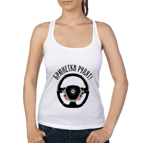 Женская майка борцовка  Фото 01, Брюнетки рулят на Ferrari!