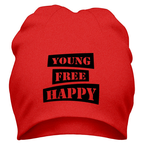 Young free happy