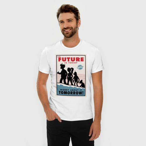 Мужская футболка премиум  Фото 03, Futurama poster