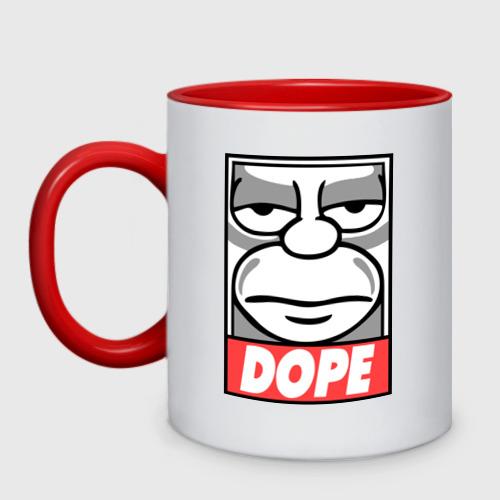 Кружка двухцветная Homer dope