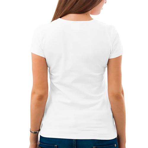 Женская футболка хлопок  Фото 04, Угрюмый кот с сердечками