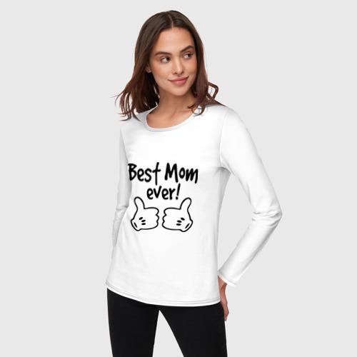 Женский лонгслив хлопок  Фото 03, Best Mom ever! (самая лучшая мама)