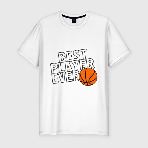 Мужская футболка премиум  Фото 01, Best player ever.(Лучший игрок всех времен)