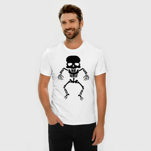 Мужская футболка премиум  Фото 03, Маленький скелет