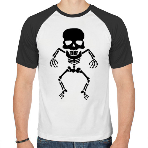 Мужская футболка реглан  Фото 01, Маленький скелет