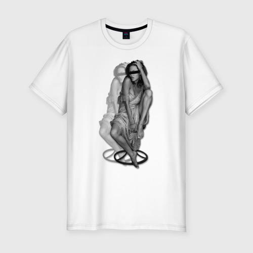 Мужская футболка премиум Анджелина Джоли