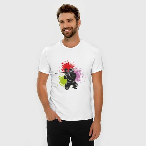 Мужская футболка премиум  Фото 03, Спорт-пейнтбол