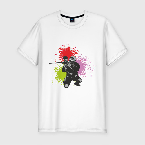 Мужская футболка премиум  Фото 01, Спорт-пейнтбол