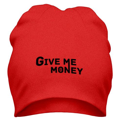 Шапка Give me money