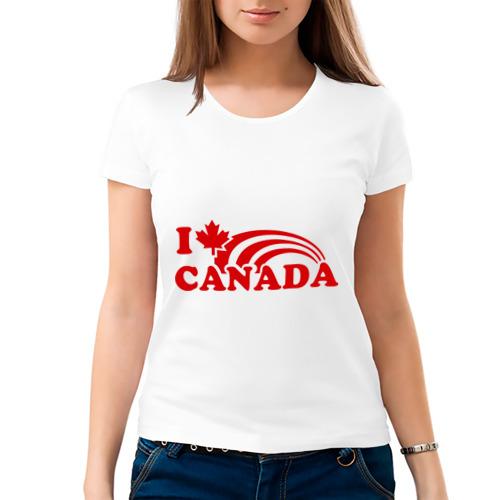 Женская футболка хлопок  Фото 03, I love canada.