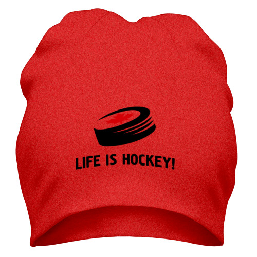 Шапка Life is hockey!
