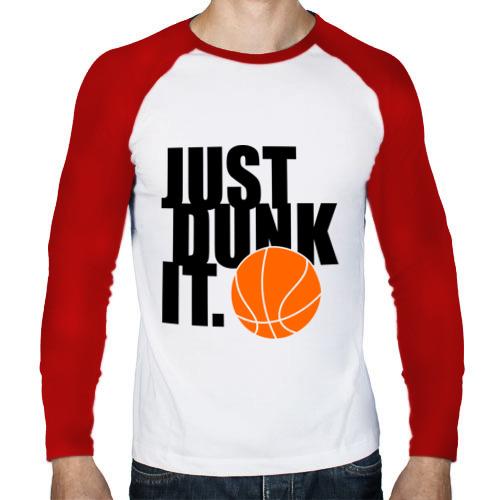 Мужской лонгслив реглан  Фото 01, Just dunk it.