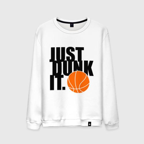 Мужской свитшот хлопок  Фото 01, Just dunk it.