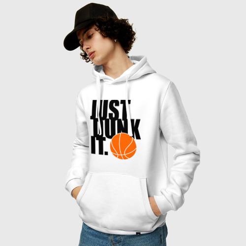 Мужская толстовка хлопок  Фото 03, Just dunk it.