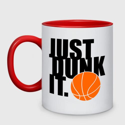 Кружка двухцветная  Фото 01, Just dunk it.
