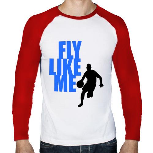 Мужской лонгслив реглан  Фото 01, Fly like me.