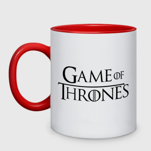 Кружка двухцветная  Фото 01, Game of Thrones logo