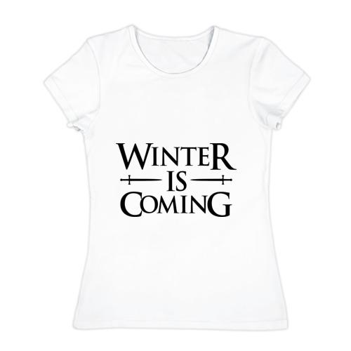Женская футболка хлопок  Фото 01, Winter is Coming
