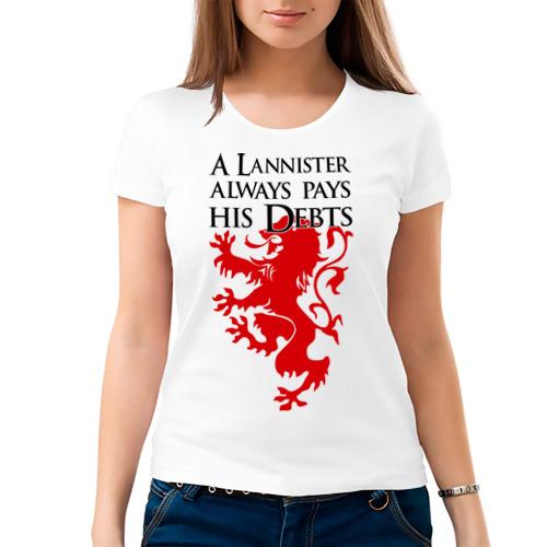 Женская футболка хлопок  Фото 03, A Lannister always pays his debts