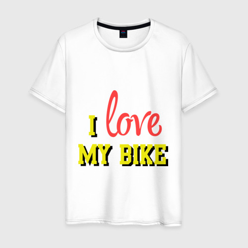 Мужская футболка хлопок I love my bike