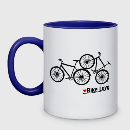 Кружка двухцветная Bike Love Фото 01