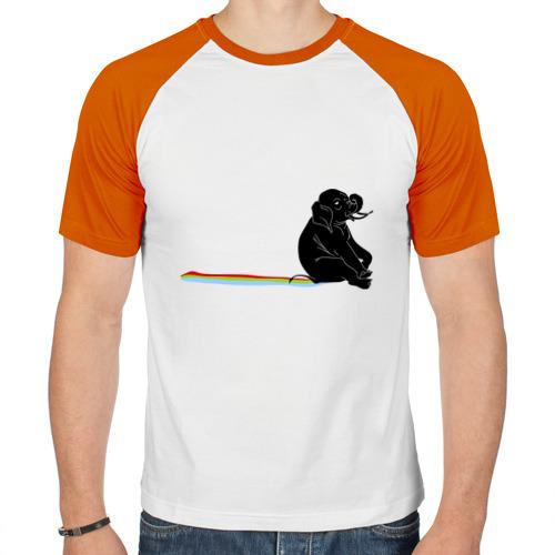 Мужская футболка реглан  Фото 01, Слон и радуга