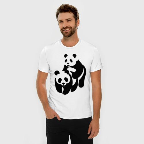 Мужская футболка премиум  Фото 03, Панды