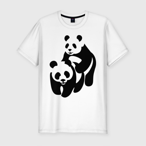 Мужская футболка премиум  Фото 01, Панды